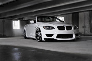 Bureaubladachtergronden BMW Wit Vooraanzicht m3 Auto