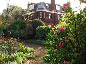 Image England Gardens Houses Hampstead Cities