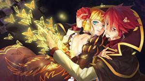 Fonds d'écran Amour Papilionoidea Couples dans l'amour Jeune homme Fantasy Filles Anime