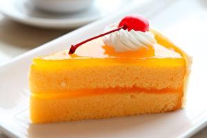 Fotos Süßigkeiten Torte Kirsche Großansicht Lebensmittel