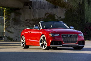 Picture Audi Red Front Cabriolet 2013 RS5 cabriolet Cars