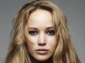 Hintergrundbilder Jennifer Lawrence Gesicht Dunkelbraun Starren Haar Prominente Mädchens