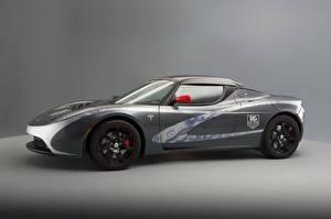 Fotos Tesla Motors Grau Seitlich Roadster 2010 Roadster Autos