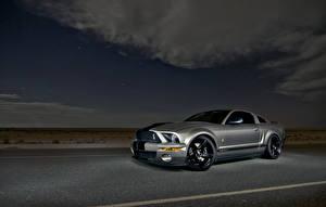 Bilder Himmel Ford Graue Mustang Shelby GT500 Autos