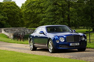 Wallpapers Bentley Blue Front Luxury 2013 Mulsanne Cars