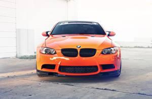 Bureaubladachtergronden BMW Vooraanzicht Oranje Metallic m3 e92 Auto