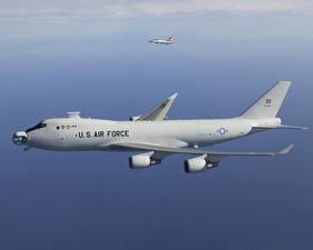 Fotos Flugzeuge Verkehrsflugzeug Boeing Flug Boeing 747