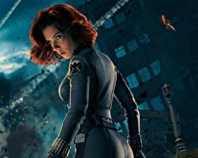 Tapety na pulpit Avengers (film 2012) Scarlett Johansson Rudowłosa BLACK WIDOW Celebryci Dziewczyny