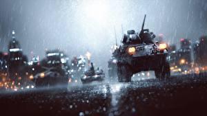 Image Battlefield Battlefield 4 Rain Armoured personnel carrier Games