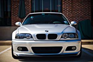 Bureaubladachtergronden BMW Wit Vooraanzicht E46 m3 automobiel