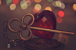 Hintergrundbilder Großansicht Schlüssel Herz