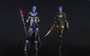 Images Mass Effect Warrior Liara Armour Aliens Mage Staff Two Samara vdeo game Girls