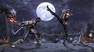 Bilder Mortal Kombat Mann Schlägerei Mond Spiele Mädchens 3D-Grafik