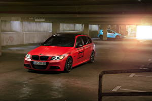 Picture BMW Red Parking 2013 330d Cars