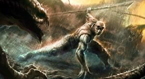 Photo Warriors Vin Diesel Men Rain Riddick film film Fantasy
