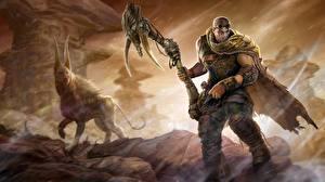 Wallpaper Man Vin Diesel Warriors Riddick film Fantasy