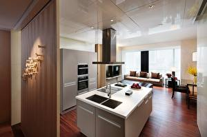 Image Interior Kitchen Table High-tech style Ceiling