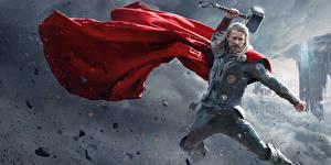 Pictures Thor: The Dark World Men Thor hero Chris Hemsworth Warrior Armour Cape Celebrities