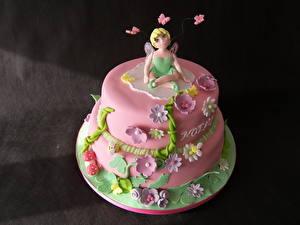 Hintergrundbilder Süßware Torte Rosa Farbe Farbigen hintergrund Lebensmittel