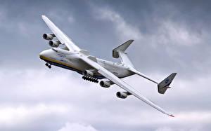 Fotos Flugzeuge Transportflugzeuge Flug Antonov An-225 Mriya