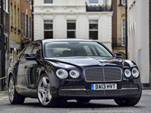 Wallpaper Bentley Blue Front Luxurious Metallic 2013 Flying Spur auto