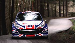 Hintergrundbilder Peugeot Vorne Flagge Autos Sport