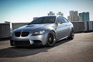 Images BMW Grey Asphalt m3 e92 Cars