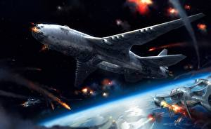Pictures Technics Fantasy Airplane Flight Fantasy Aviation Space