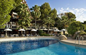 Bilder Resort Spanien Wasser Mallorca Schwimmbecken Palmengewächse Balearic Islands Städte
