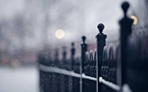 Bakgrunnsbilder Nærbilde Vinter Gjerde