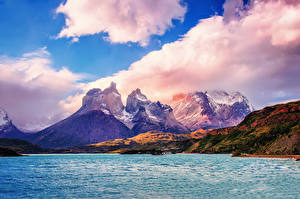 Wallpapers Mountain Chile Scenery Clouds Nature