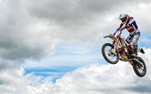 Image Flight Jump Clouds athletic Motorcycles