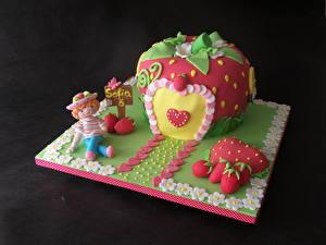 Hintergrundbilder Süßigkeiten Torte Farbigen hintergrund Lebensmittel