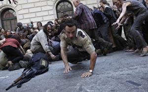 Wallpaper Men Zombie People The Walking Dead TV Andrew Lincoln Police Celebrities
