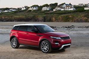Papel de Parede Desktop Land Rover Vermelho 2010 Range Rover Evoque automóvel