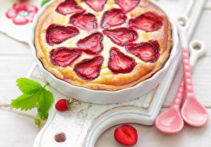 Bilder Süßigkeiten Obstkuchen Erdbeeren Lebensmittel