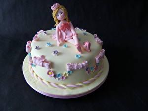 Bilder Süßigkeiten Torte Farbigen hintergrund Lebensmittel