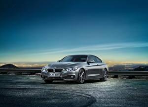 Hintergrundbilder BMW Himmel Graues 2014 4-series coupe automobil