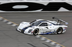 Bilder Ford Weiß 2013 EcoBoost LMP Race Car Autos Sport