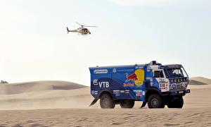 Bilder Lastkraftwagen KAMAZ Hubschrauber Autos Sport