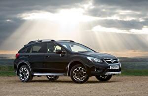 Hintergrundbilder Subaru Schwarz Seitlich Lichtstrahl 2013 Subaru XV Black Limited Edition auto