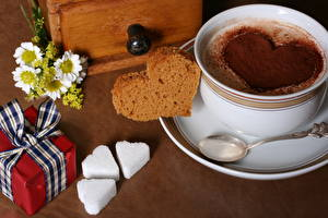Image Drink Coffee Bread Cup Heart Present Spoon Food