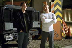 Bakgrundsbilder på skrivbordet The Fast and the Furious Fast Män Paul Walker Vin Diesel Filmer Kändisar