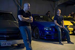 Bakgrundsbilder på skrivbordet The Fast and the Furious Fast Vin Diesel Paul Walker Män Filmer Kändisar
