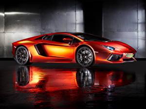 Pictures Lamborghini Orange 2013 Aventador LP700-4 Cars