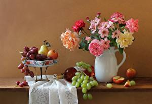 Wallpapers Still-life Fruit Jug container Bottles Food