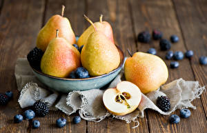 Pictures Fruit Pears Blueberries