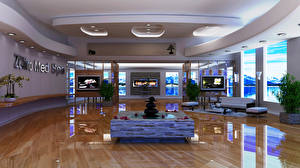 Wallpapers Interior Ceiling High-tech style ZOhiro med spa
