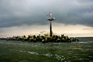 Bilder Leuchtturm Litauen Wasser  Natur