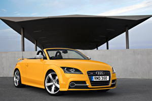 Photo Audi Yellow Cabriolet 2013 TTS cabriolet Limited Edition Cars